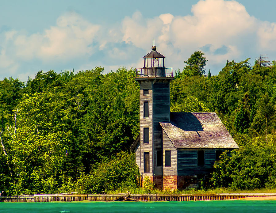 Attraction Photograph - Grand Island Lighthouse by Nick Zelinsky