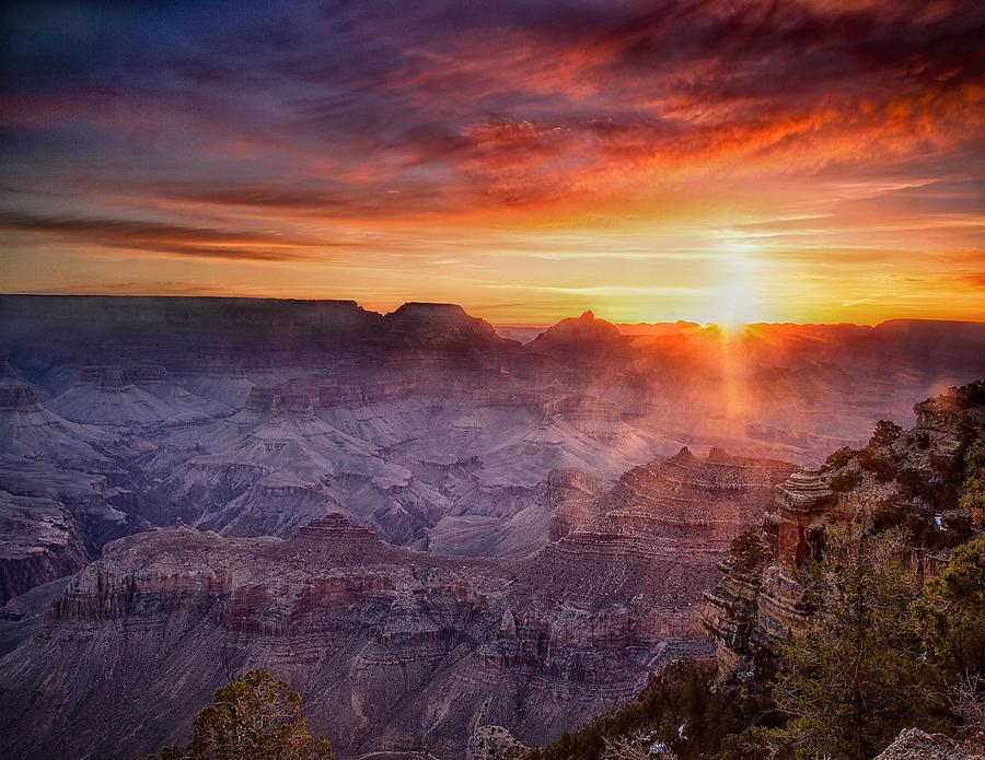 Grand Canyon Photograph - Grand Morning At The Canyon by Andrew Soundarajan