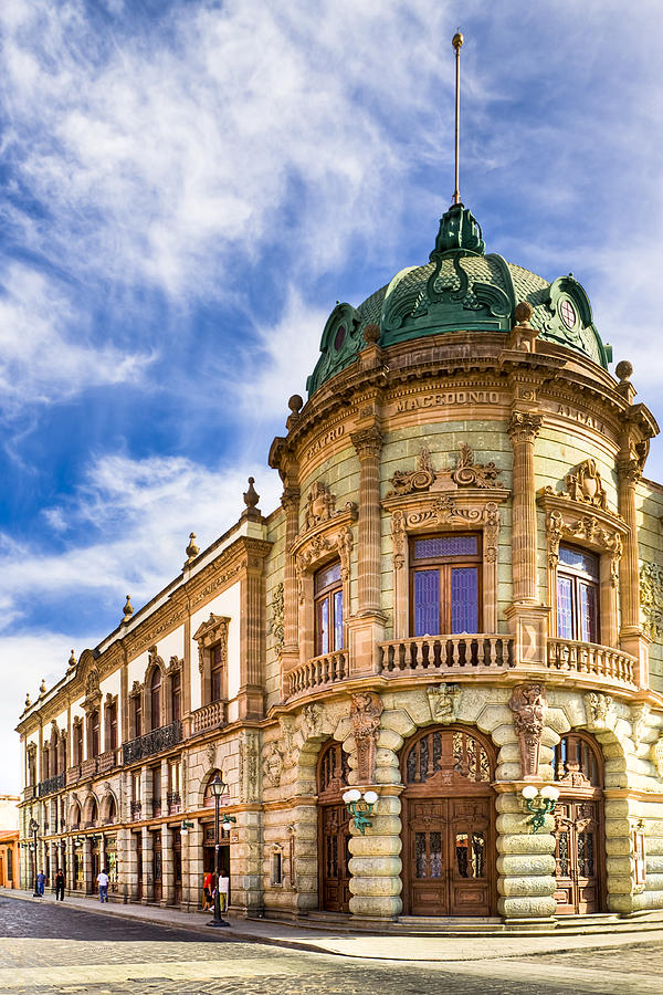 Oaxaca Photograph - Grand Old Theater In The Heart Of Oaxaca by Mark E Tisdale