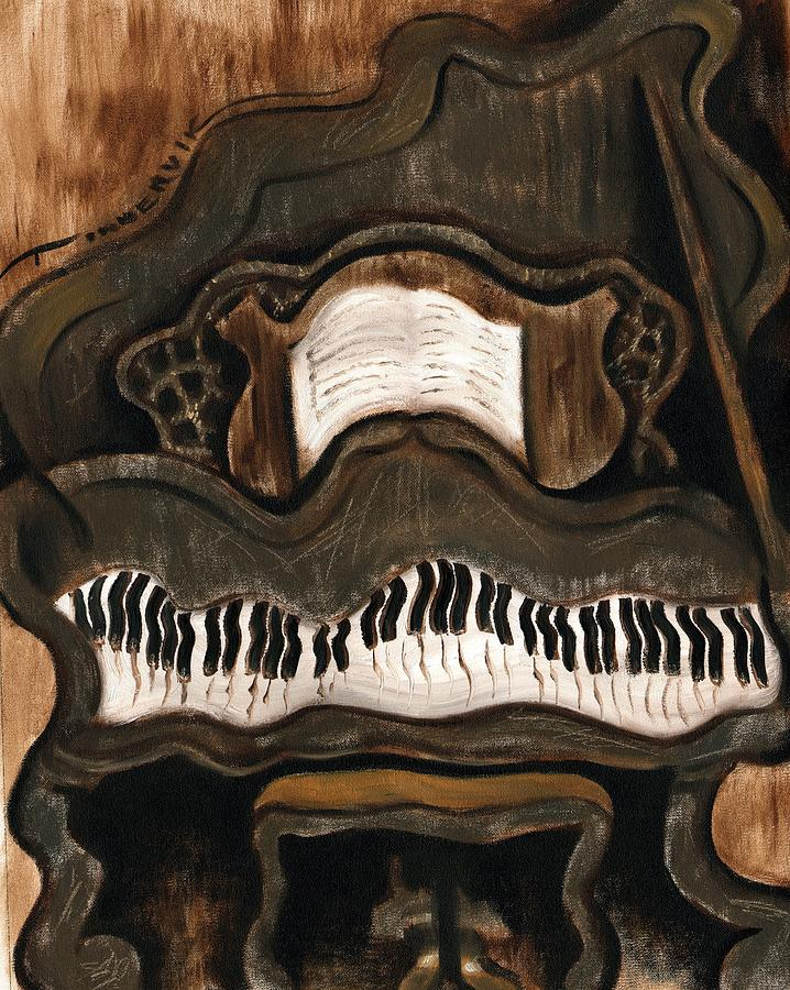 Piano Painting Painting - Tommervik Abstract Grand Piano Art Print by Tommervik