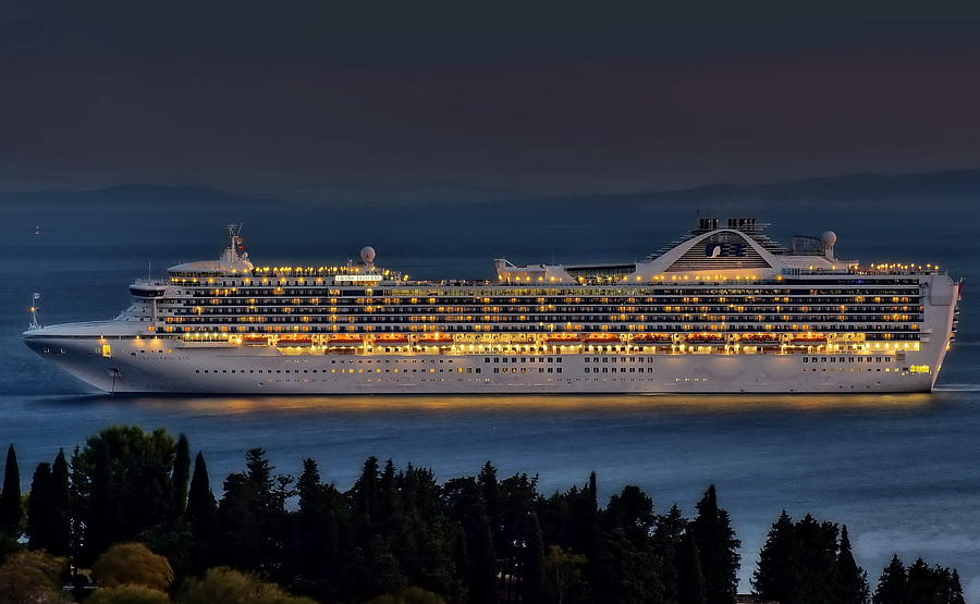 Grand Princess Photograph - Grand Princess by Ships in Split