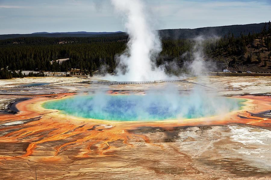 Grand Prismatic Spring, Yellowstone Park Photograph by Marco Brivio