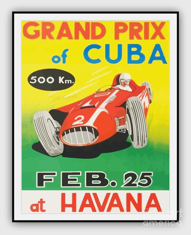 Poster Painting - Grand Prix Of Cuba by Roberto Prusso