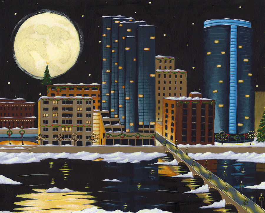 Grand Rapids Painting - Grand Rapids by Christy Beckwith