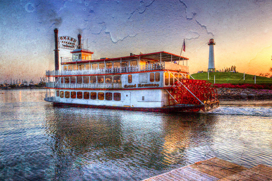 Paddle Photograph - Grand Romance Riverboat by Heidi Smith