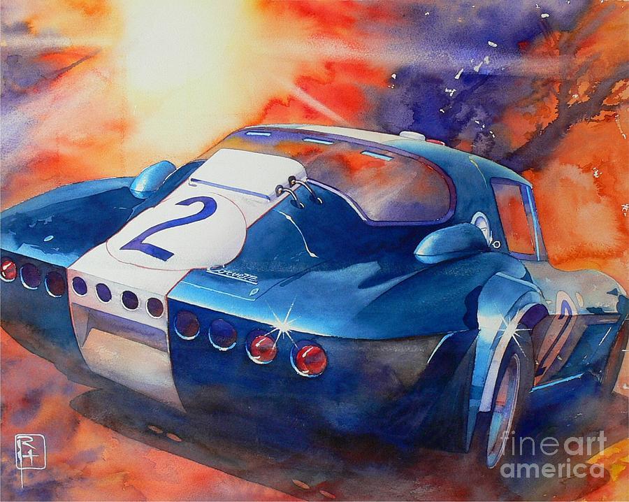 Watercolor Painting - Grand Sport by Robert Hooper
