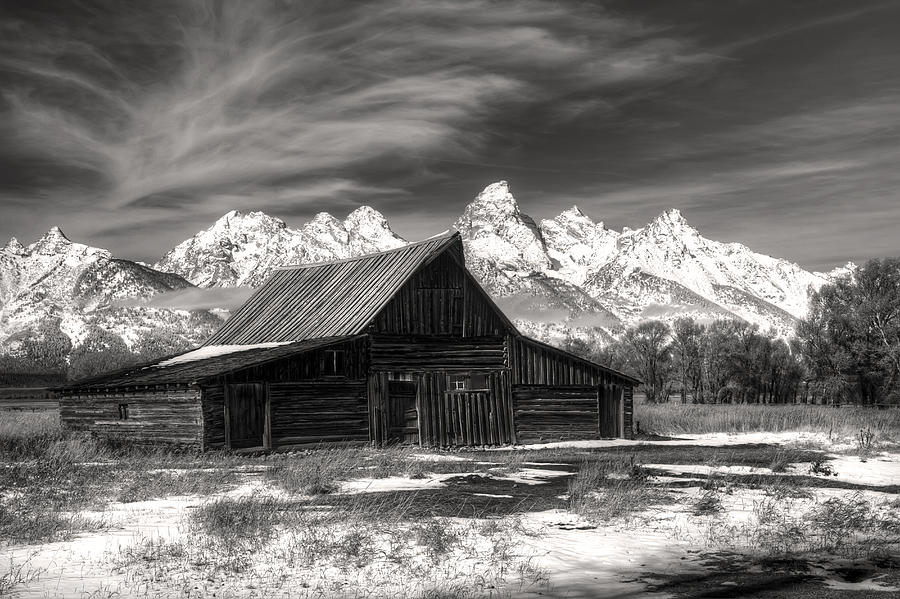 Moulton barn photograph grand teton national park moulton barn in black and white by pierre