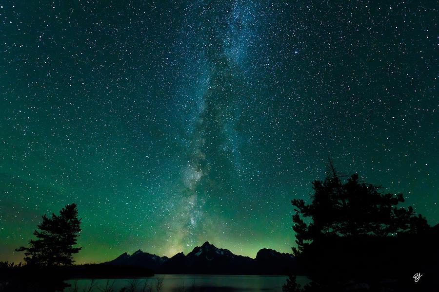 Landscape Photograph - Grand Teton Stars by Robert Yone