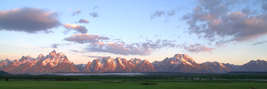 Landscape Photograph - Grand Teton Sunrise Panorama by Brian Harig