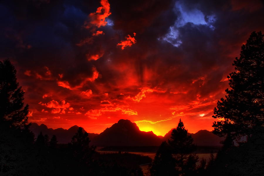Grand Tetons Photograph - Grand Teton Sunset by Aidan Moran