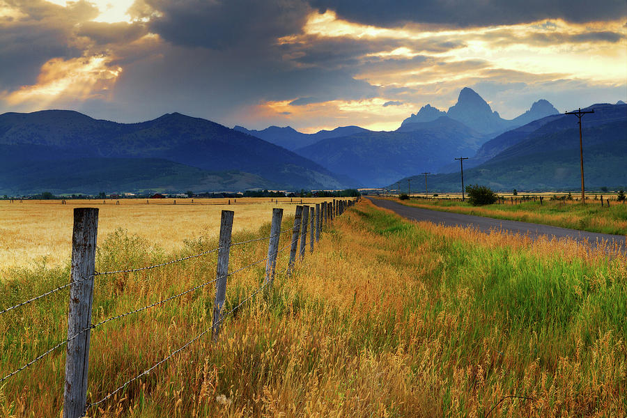 Grand Tetons At Sunrise From Driggs Photograph by Anna Gorin