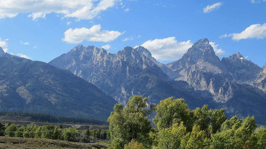 Landscape Photograph - Grand Tetons by Diane Mitchell