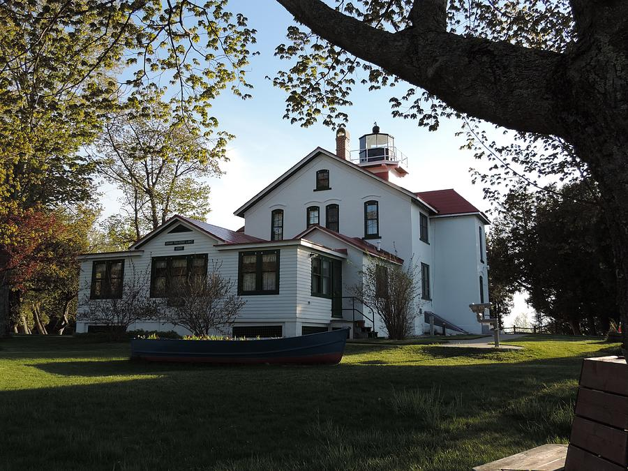 Lighthouse Photograph - Grand Traverse Lighthouse by Keith Stokes