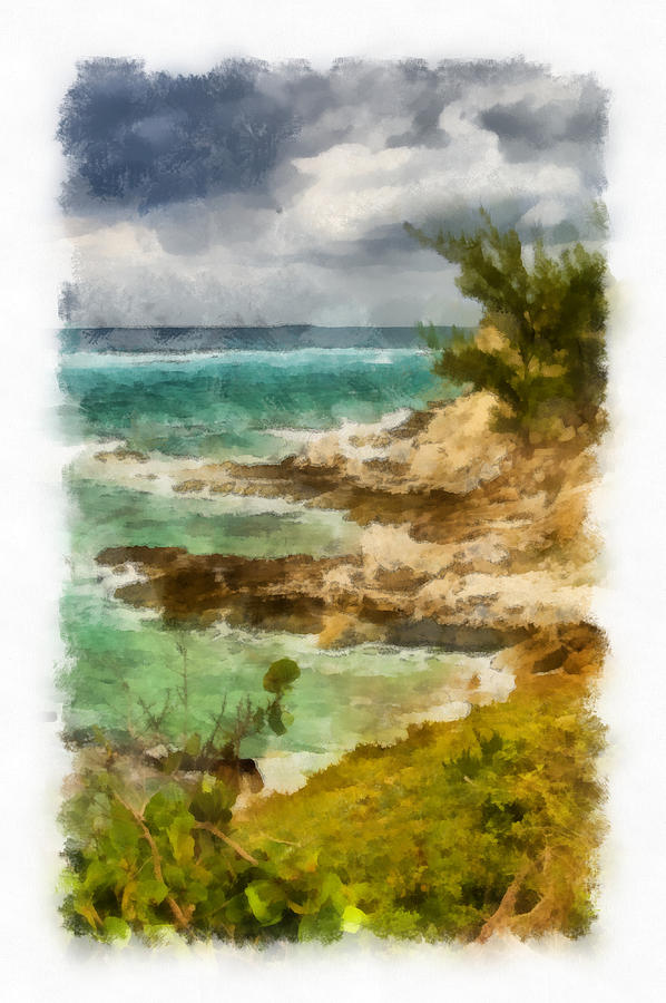 Grand Turk North Shore Vertical Photograph