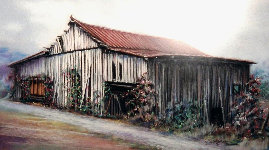 Nature Painting - Grandaddys Barn by Melodye Whitaker