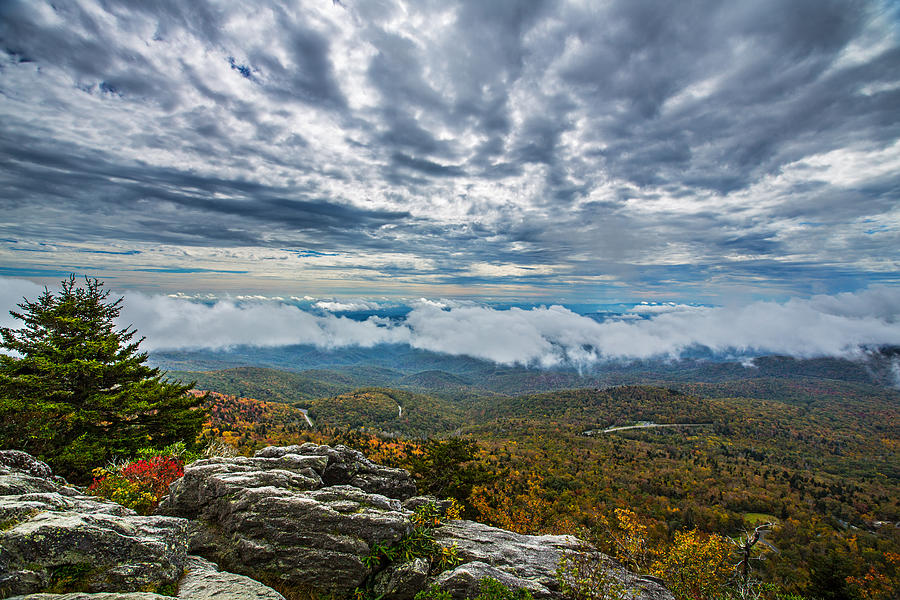 Grandfather Mountain Photograph - Grandfather Mountain by John Haldane