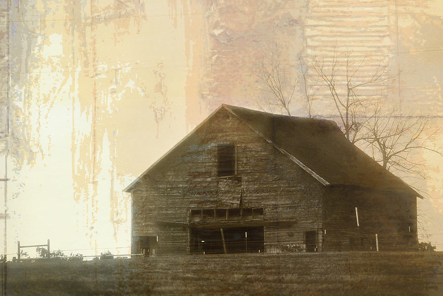 Landscape Digital Art - Grandfathers Barn by Lena Wilhite