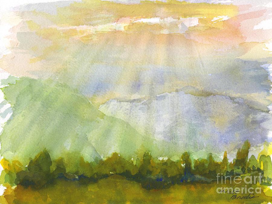 Sun Rays Painting - Grandma Cohen Rays by Walt Brodis