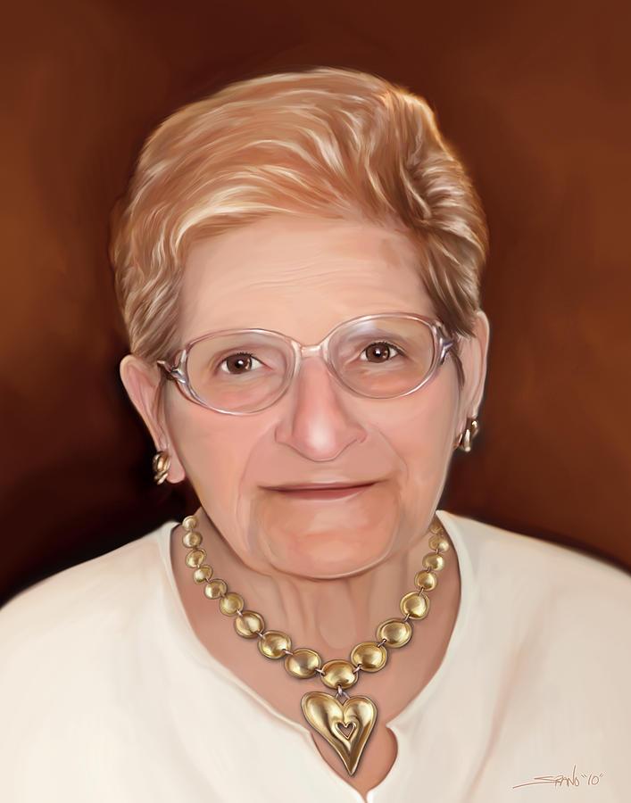 Portrait Painting - Grandma Eleanor by Michael Spano