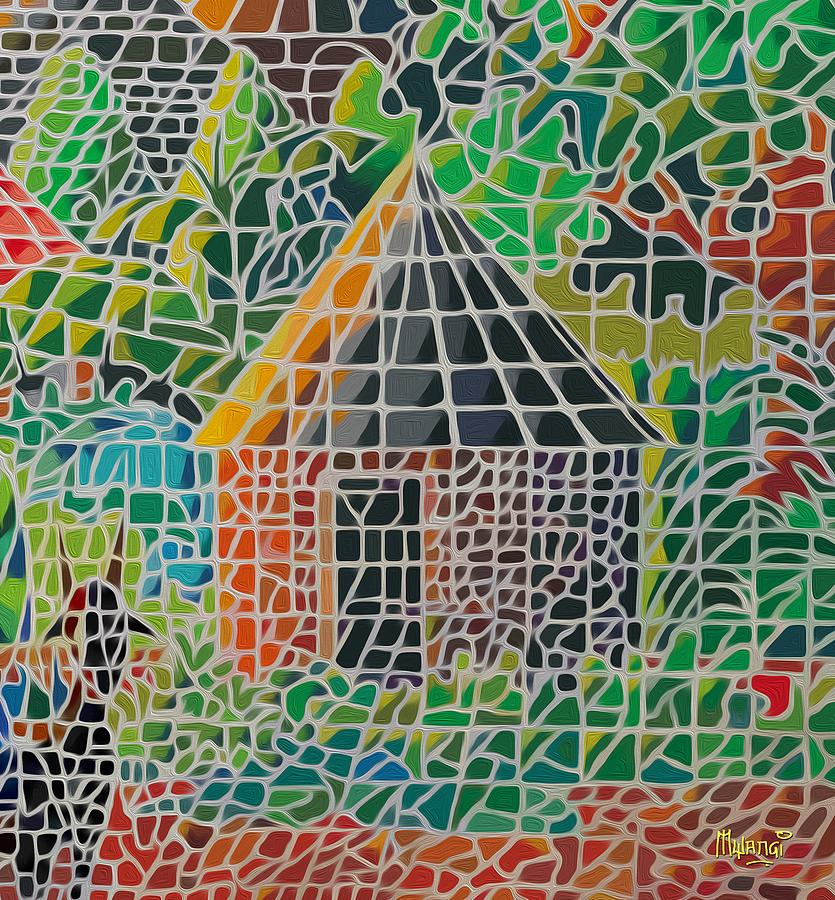 Acrylics Painting - Grandmas House by Anthony Mwangi