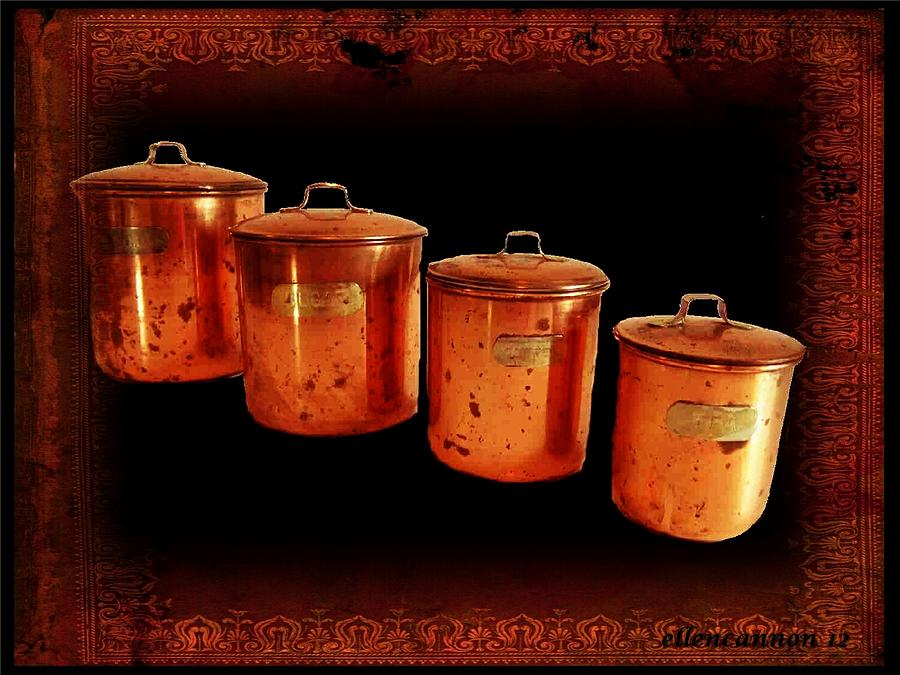copper kitchen canister sets s kitchen copper canister set photograph by 16853