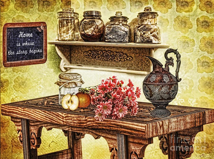 Kitchen Photograph - Grandmas Kitchen by Mo T