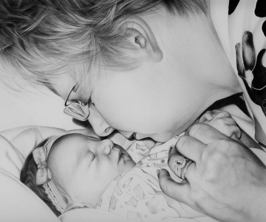 Grandma Drawing - Grandmas Love by Natasha Denger
