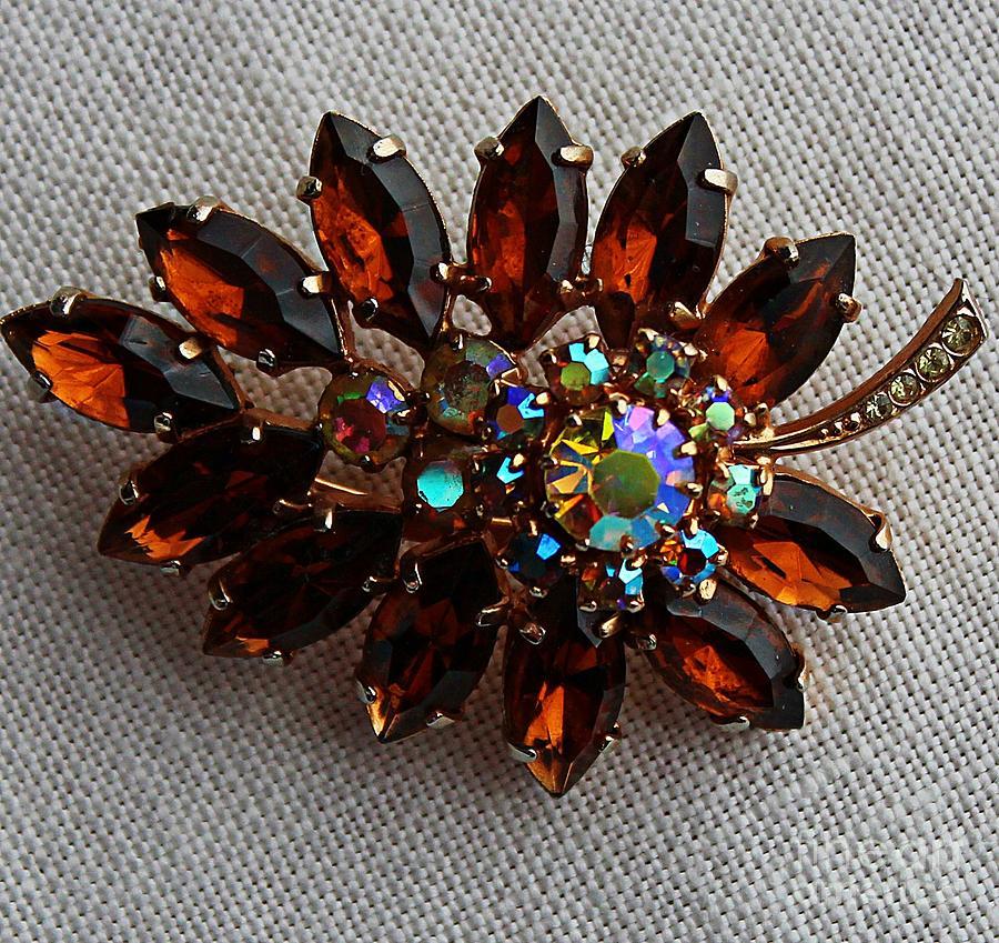Treasures Jewelry - Grandmas Topaz Brooch - Treasured Heirloom by Barbara Griffin