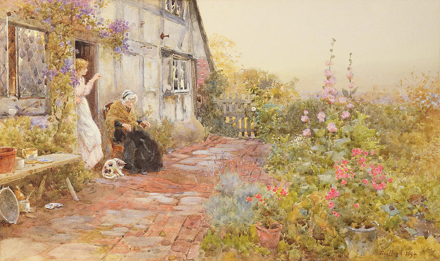 Garden Painting - Grandmother by Thomas James Lloyd