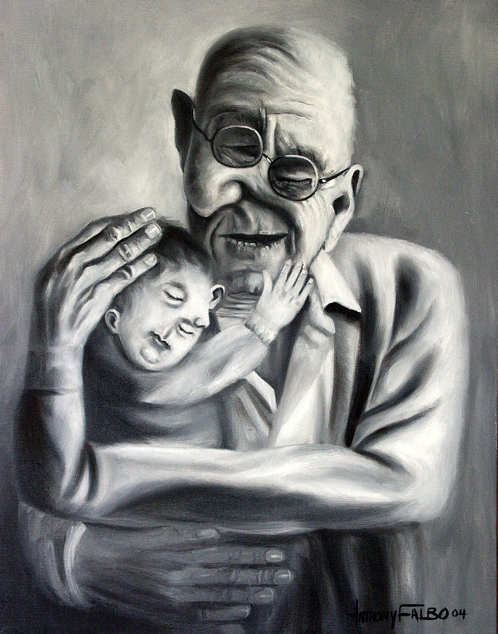 Grandpa Painting - Grandpa by Anthony Falbo