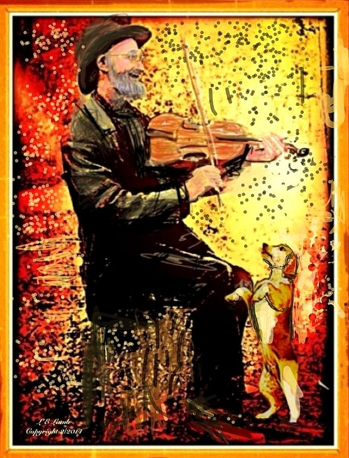 Art Painting - The Music Lover. by Larry Lamb