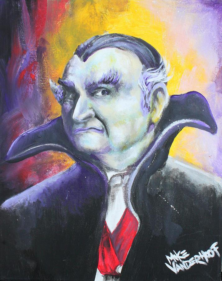 Horror Painting - Grandpa Munster by Michael Vanderhoof