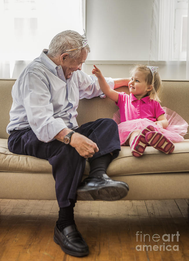 Grandpa Photograph - Grandpas Little Princess by Diane Diederich