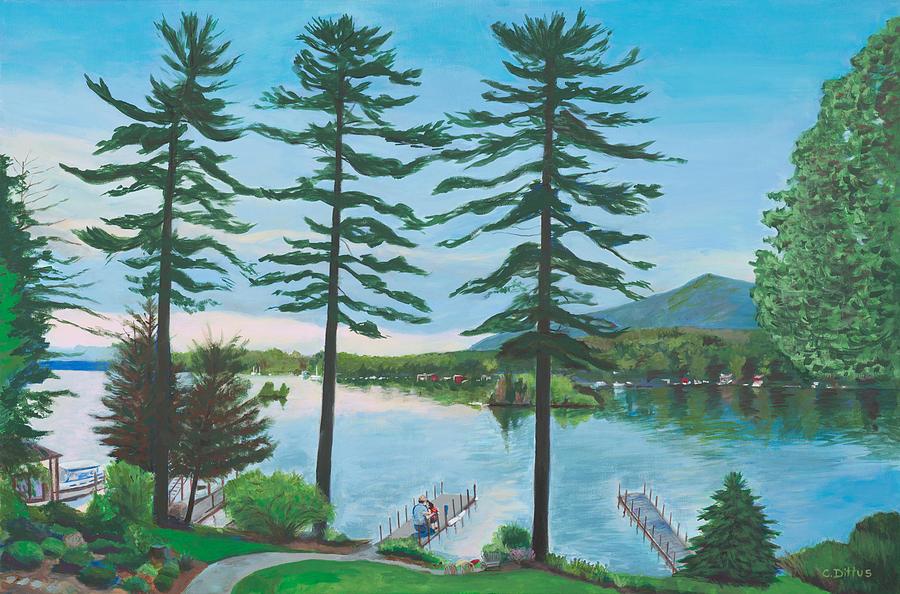 Lake George Painting - Grandpas Love by Chrissey Dittus