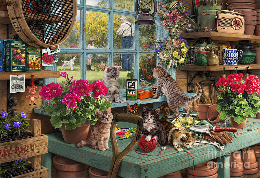 grandpa 39 s potting shed digital art by steve read