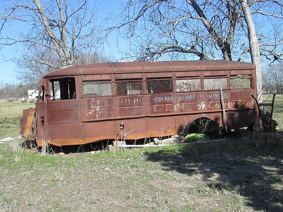 Bus Photograph - Grandpas School Bus by Rosalie Klidies