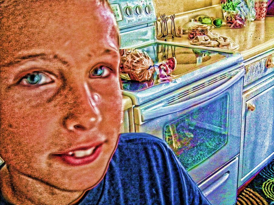 Kids Digital Art - Grandson II by Robert Rhoads