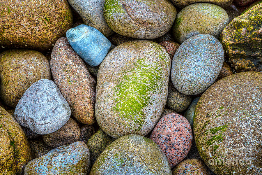 America Photograph - Granite Cobbles by Susan Cole Kelly
