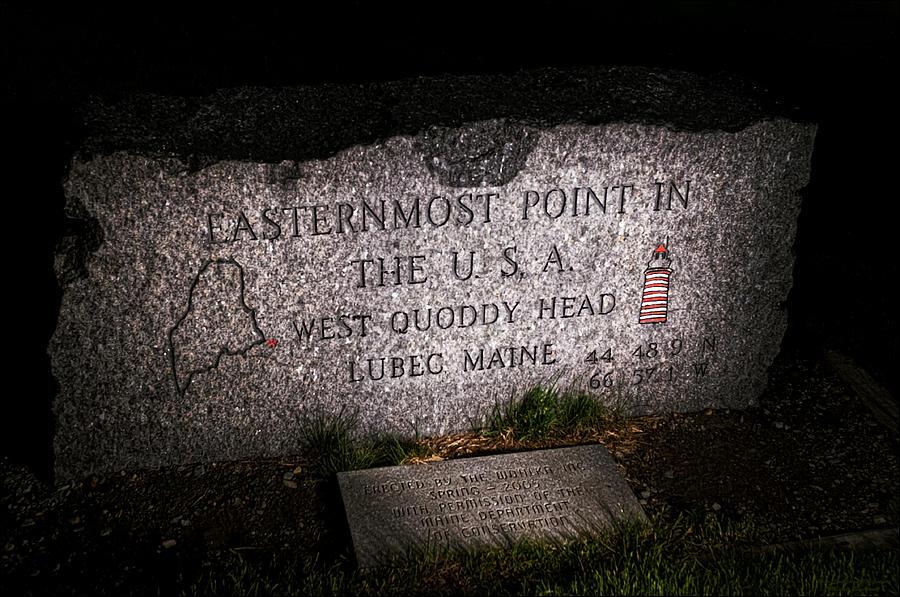 Quoddy Head State Park Photograph - Granite Monument Quoddy Head State Park by Marty Saccone