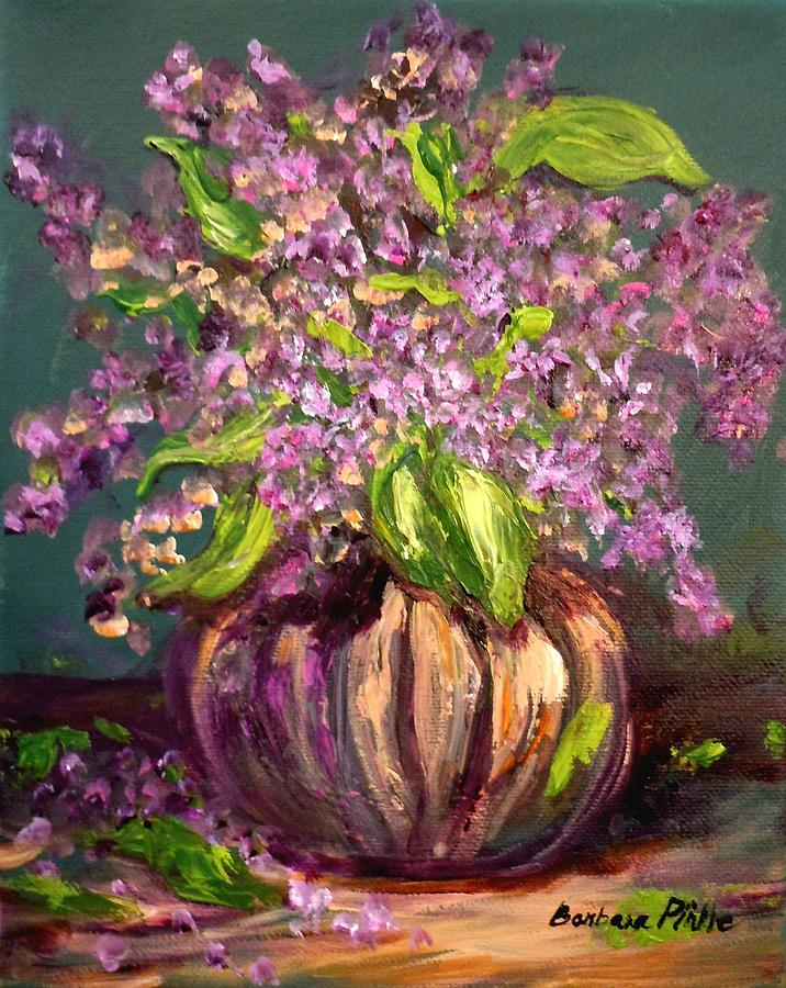 Still Life Painting - Granny Mabrys Lilacs by Barbara Pirkle
