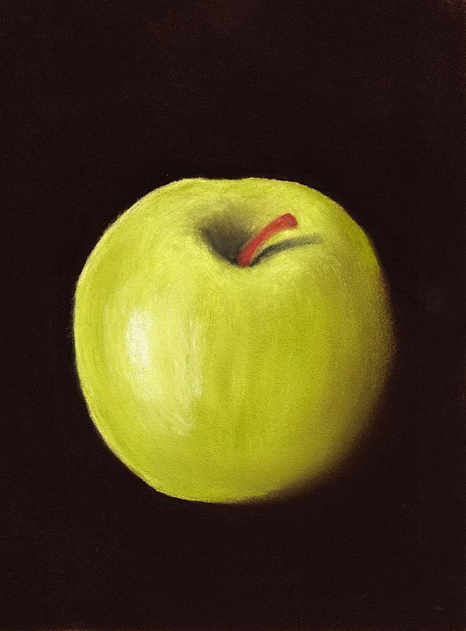 Apple Painting - Granny Smith Apple by Anastasiya Malakhova