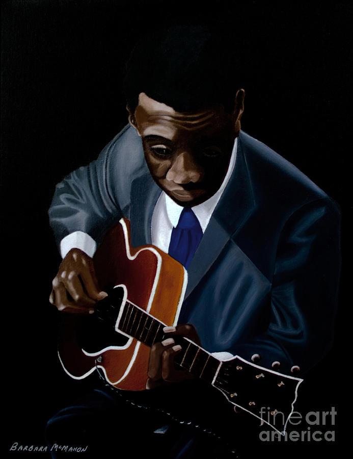 Jazz Painting - Grant Green by Barbara McMahon