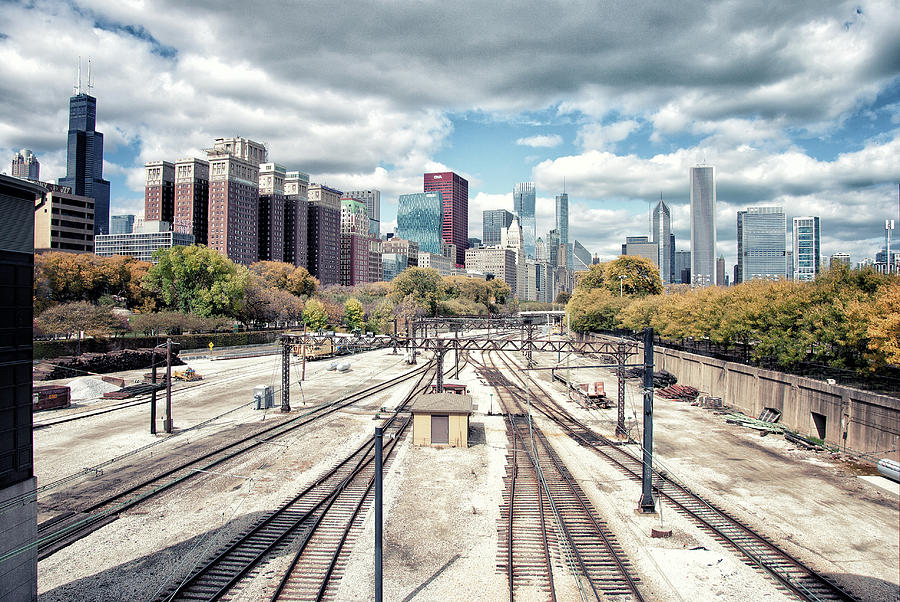 Grant Park Railroad Tracks Photograph by Photographer Who Enjoys Experimenting With Various Styles.