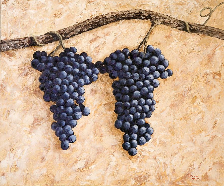 Grape Vine Painting - Grape Vine by Darice Machel McGuire