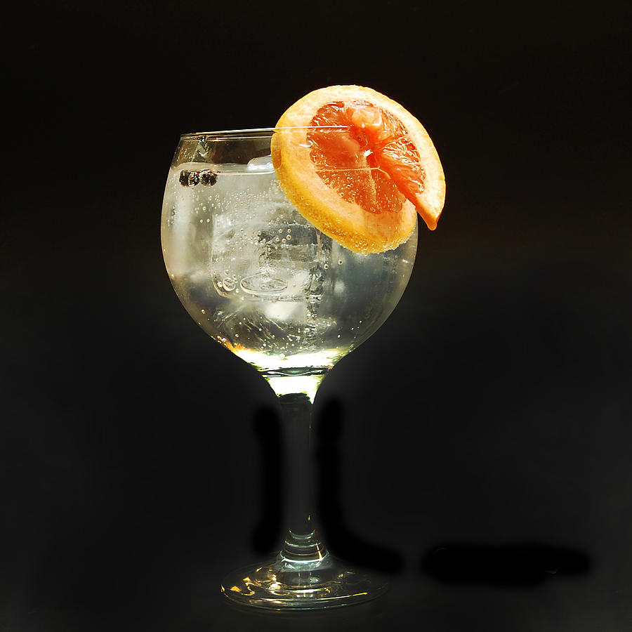 Gin Photograph - Grapefruit Gin Tonic by Gina Dsgn