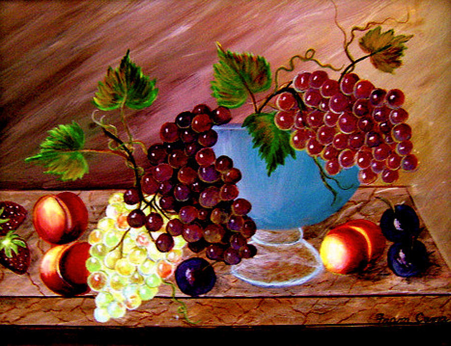Grapefully Yours Painting by Fram Cama