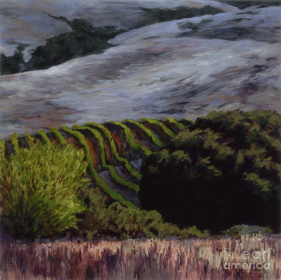 Landscape Painting - Grapes And Oaks by Betsee  Talavera