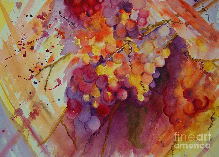 Grapes painting by henny dagenais for Henny and paint
