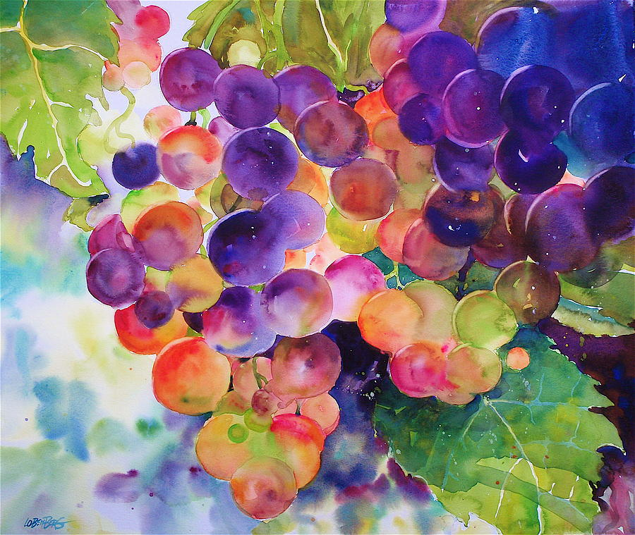 Landscape Painting - Grapes In The Sun by David Lobenberg