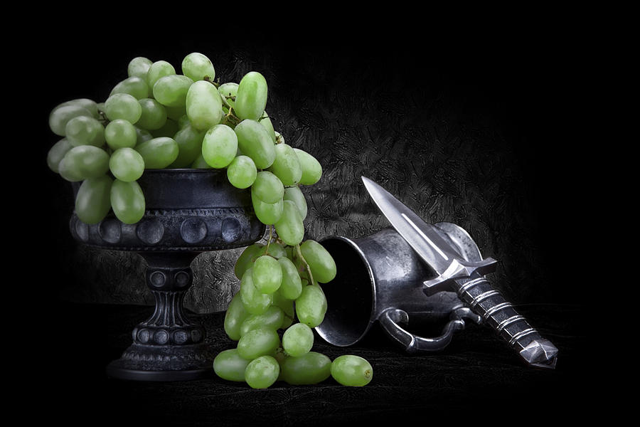 Antique Photograph - Grapes Of Wrath Still Life by Tom Mc Nemar